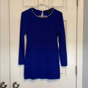 NWT   WHBM   Royal Blue Tunic   Jeweled Neckline